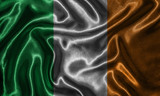 Wallpaper by Ireland flag and waving flag by fabric.