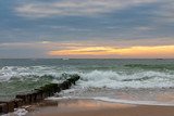 Sunset at the beach of Sylt - 215360700