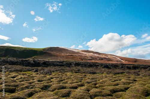 Tekstury i wzory w pięknym krajobrazie Islandii