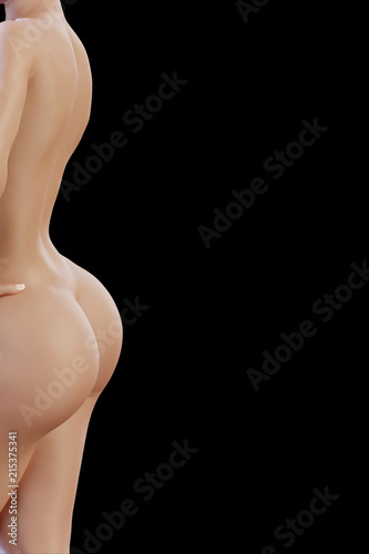 © PixlMakr - Fotolia.com Sexy woman's back with curvy sensual buttocks on black background