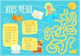Children menu meal template.