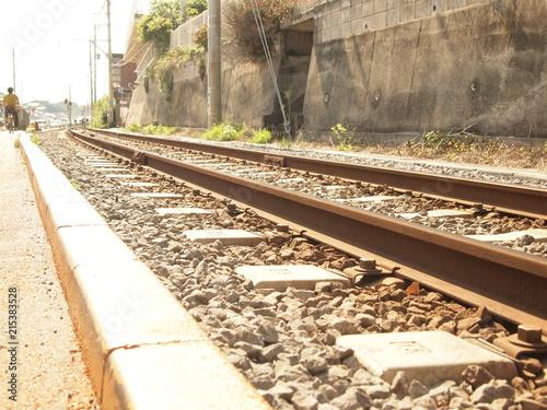 Foto Spatwand Spoorlijn OLYMPUS DIGITAL CAMERA