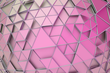Abstract 3d rendering of geometric surface. Composition with triangles. Futuristic modern background design for poster, cover, branding, banner, placard. © VAlex
