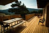 Terrasse de Chalet en bois © Boris V.