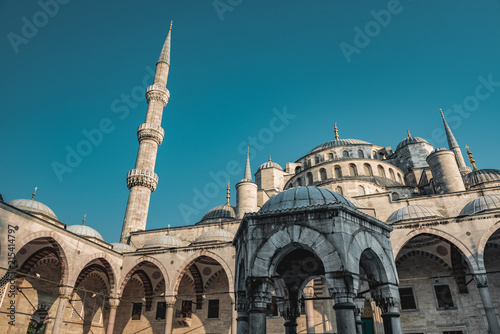 Sultan Ahmed Blue Mosque At Blue Hour In Istanbul Turkey