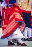 Detail of Italian folk costume for women - 215417557