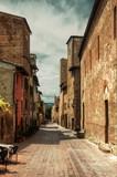 Back street of Certaldo, Tuscany