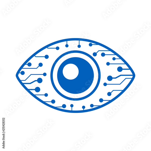 Eye cyber security icon – for stock