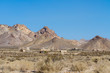Distant View of the High Desert Ghost Town of Rhyolite, Nevada