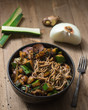 Asian Noodle Dish with Ingredients - 215440155