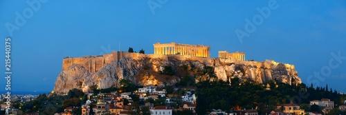 Athens skyline rooftop night