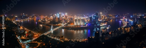 Chongqing urban architecture at night - 215440389