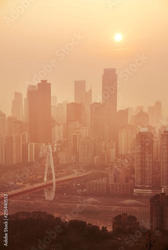 Chongqing Urban buildings sunset