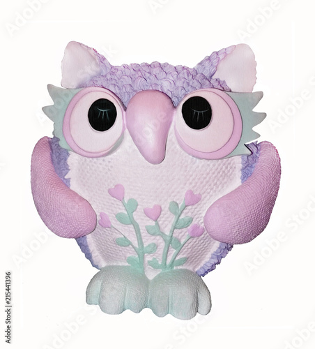 Fotobehang Uilen cartoon Colors Owl.