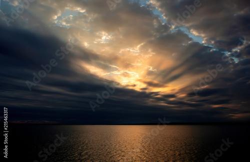 Fotobehang Zee zonsondergang atardecer rio