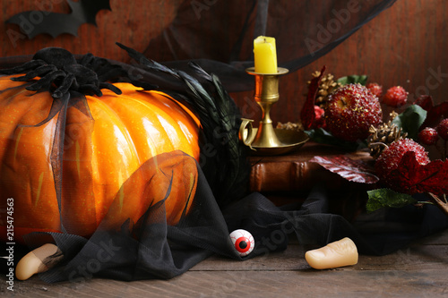 Foto Murales still life decor for autumn holiday halloween