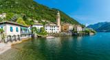 Scenic sight in Laglio, village on the Como Lake, Lombardy, Italy. - 215474963