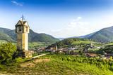 Scenic View into the Wachau with the river Danube. Spitz. Austria. - 215487775