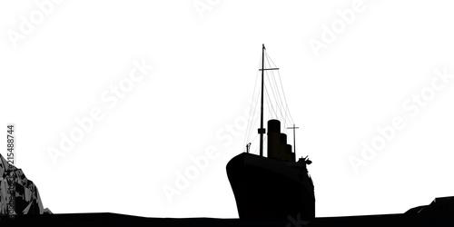 Fototapeta ocean liner silhouette