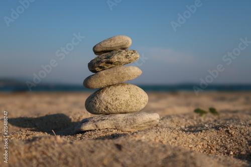 Plexiglas Zen Stenen Stone balancing