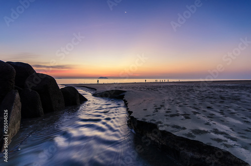 Fotobehang Zee zonsondergang sunset, sea, beach, water, sky