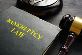Bankruptcy law and gavel in a court. - 215510977