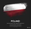 Poland Flag Made of Glitter Sparkle Brush Paint Vector - 215515524