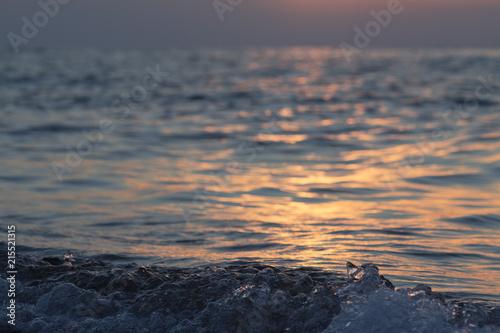 Foto Spatwand Zalm manzara, gün batımı, arka plan