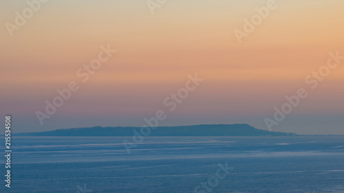 Foto Spatwand Zalm Beautiful vibrant image of Isle of Purbeck in Dorest England at sunset