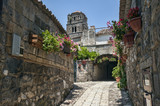 Ancient medieval streets of Caserta Vecchia.Italy. - 215537582