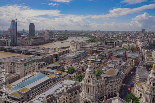 Plexiglas London Aerial view of London from