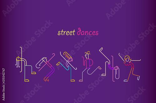 In de dag Abstractie Art Street Dances
