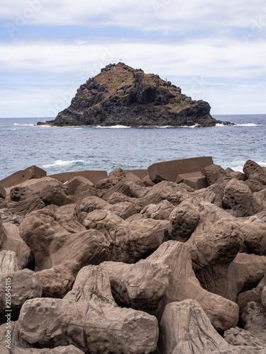 Canvas Wit Garachico esta de moda a small fishing village on the island of Tenerife