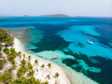 Top view of Tobago cays - 215546942