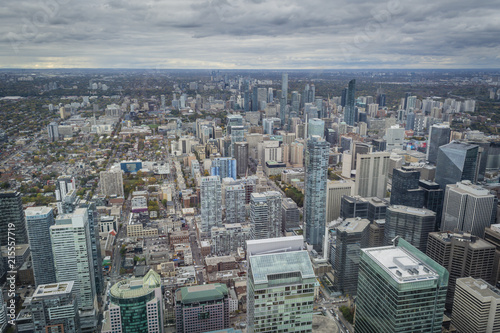 Foto Spatwand Canada Toronto view from above at downtown