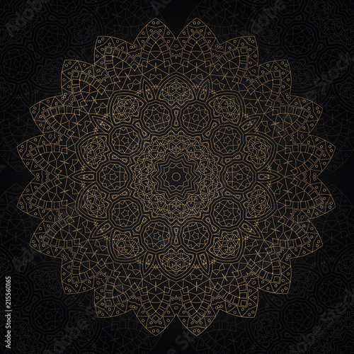 Decorative mandala design - 215560165