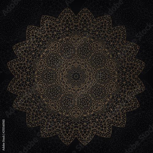 Decorative mandala design - 215560165