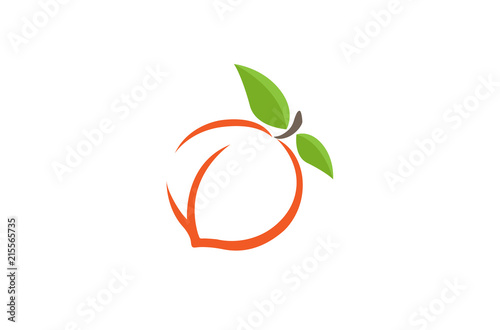 Peach Orange Logo Design Illustration - 215565735