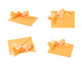 Paper envelope decorated with the bow