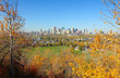 Cityscape of Edmonton, Alberta, Canada, during the autumn season.