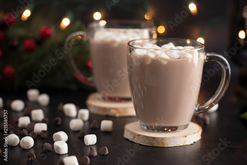 Canvas Chocolade Hot Chocolate on a Table set for the Holidays