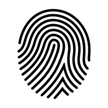 Human Fingerprint  Finger Print Or Biometric Scan Line Art  Icon For Apps And Websites Sticker