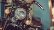Vintage Headlight Motorcycle