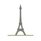 Eiffel tower at Paris, France, flat design isolated vector icon