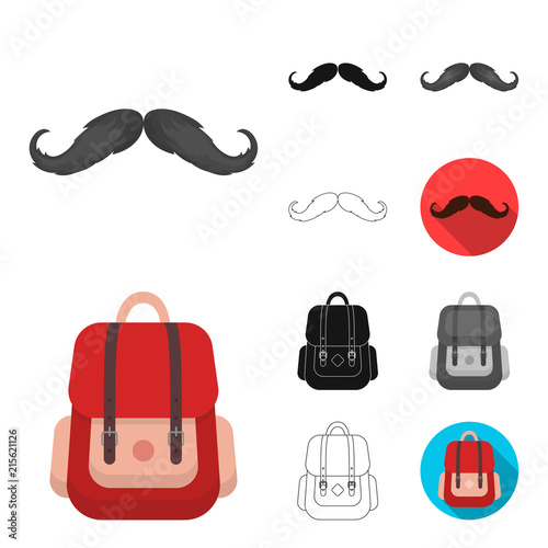 In de dag Hipster Hert Style Hipster cartoon,black,flat,monochrome,outline icons in set collection for design. Hipster Attributes and accessories vector symbol stock web illustration.