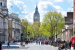Whitehall street and Big Ben, London, UK