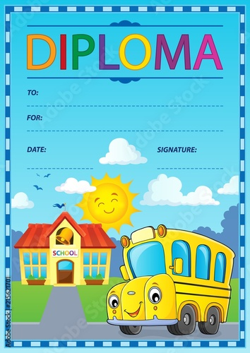 Canvas Voor kinderen Diploma design image 1