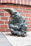 Gnome statue in Wroclaw