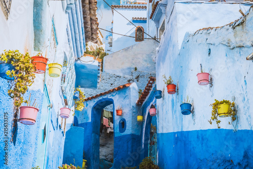 Canvas Marokko Chefchaouen ,Blue city of Morocco