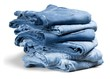 folded denim jeans